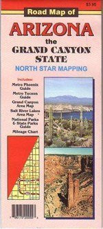 us topo - Road Map of Arizona the Grand Canyon State - Wide World Maps & MORE! - Map - North Star - Wide World Maps & MORE!