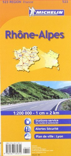 us topo - Michelin Map France: Rhone Alpes 523 (Maps/Regional (Michelin)) (French Edition) - Wide World Maps & MORE! - Book - Michelin - Wide World Maps & MORE!