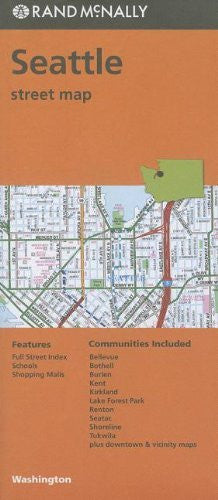 Rand McNally Seattle, Washington Street Map