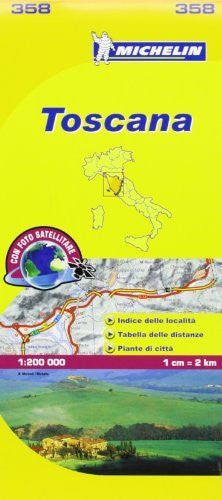 Michelin Map Italy: Toscana 358 (Maps/Local (Michelin)) (Italian Edition)