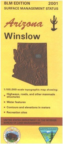 Winslow, Arizona: 1:100,000-Scale Topographic map : 60 X 30 Minute Series (Surface Management Status) - Wide World Maps & MORE!