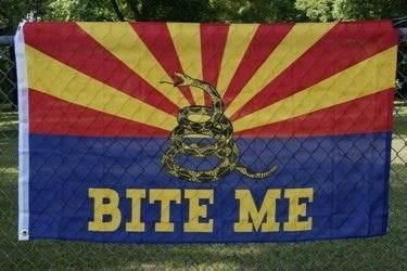 Arizona Gadsden (Support AZ Flag) - Wide World Maps & MORE! - Lawn & Patio - Ruffin Flag - Wide World Maps & MORE!