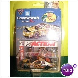us topo - 1998 Dale Earnhardt #3 Bass Pro Monte Carlo 1/64 Scale Diecast Action Racing Collectables Limited Edition - Wide World Maps & MORE! - Toy - Action - Wide World Maps & MORE!