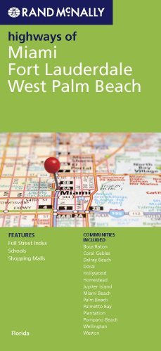 us topo - Rand McNally Highways of Miami, Fort Lauderdale, West Palm Beach, FL - Wide World Maps & MORE! - Book - Wide World Maps & MORE! - Wide World Maps & MORE!