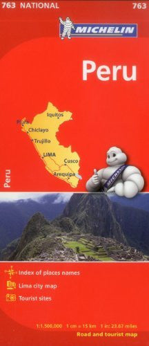Michelin Peru Map 763 (Maps/Country (Michelin))