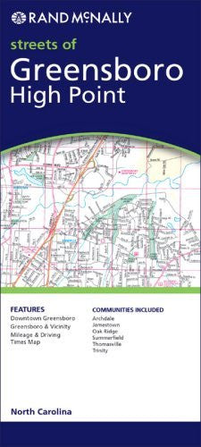 Rand Mcnally Greensboro, Highpoint: Local Street Detail (Rand McNally Folded Map: Cities)