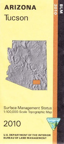 Tucson, Arizona: 1:100,000-scale topographic map : 30 x 60 minute series (topographic) (Surface management status)