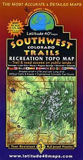 us topo - Southwest Colorado Topographic Recreation Trail Map - Wide World Maps & MORE! - Book - Wide World Maps & MORE! - Wide World Maps & MORE!