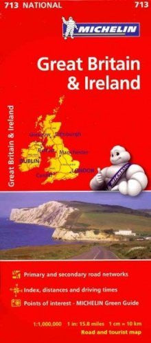 us topo - Michelin Map Great Britain & Ireland National 713 - Wide World Maps & MORE! - Office Product - Wide World Maps & MORE! - Wide World Maps & MORE!