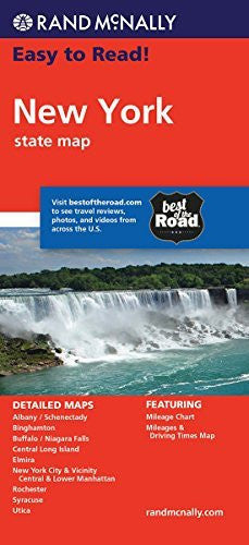 us topo - Rand McNally Easy To Read: New York State Map - Wide World Maps & MORE! - Book - Rand McNally and Company (COR) - Wide World Maps & MORE!