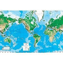 World Map Paper Wall Mural
