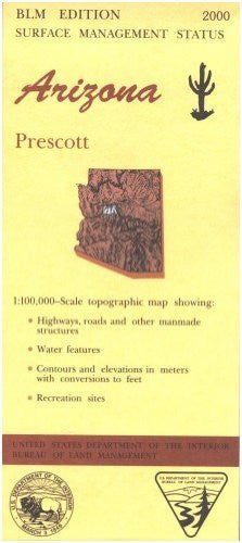 us topo - Prescott, Arizona Surface Management Status - Wide World Maps & MORE! - Book - Wide World Maps & MORE! - Wide World Maps & MORE!