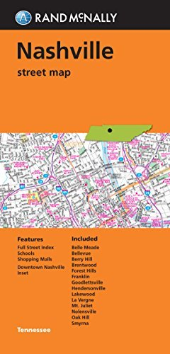 Folded Map: Nashville Street Map - Wide World Maps & MORE! - Book - Brand: Rand McNally Company - Wide World Maps & MORE!