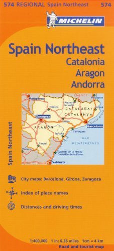 us topo - Michelin Spain: Northeast Catalonia, Aragon, Andorra, Map 574 (Maps/Regional (Michelin)) - Wide World Maps & MORE! - Book - Michelin Travel & Lifestyle (COR) - Wide World Maps & MORE!