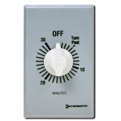 us topo - Intermatic FF30MC 30-Minute Spring Loaded Wall Timer, Brushed Metal - Wide World Maps & MORE! - Home Improvement - Intermatic - Wide World Maps & MORE!