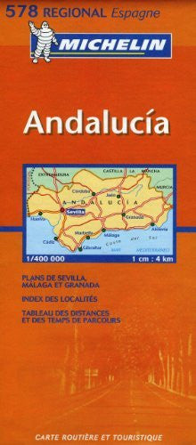 Michelin Map Spain Southern: Andalucia  578 (Maps/Regional (Michelin))