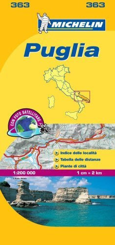 Michelin Map Italy: Puglia 363 (Maps/Local (Michelin)) (Italian Edition) - Wide World Maps & MORE! - Book - Wide World Maps & MORE! - Wide World Maps & MORE!