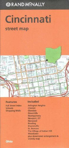 us topo - Cincinnati Street Map- OH Rand McNally - Wide World Maps & MORE! - Book - Rand McNally and Company (COR) - Wide World Maps & MORE!