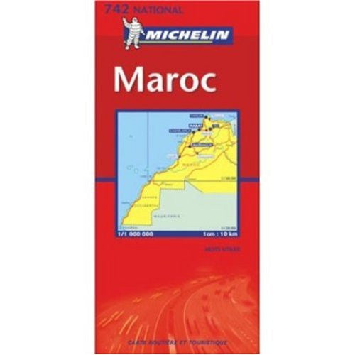 Michelin Map No. 742: Morocco (Maroc - Marokko - Marruecos), Scale 1:1000,000 (French Edition)