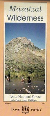 Mazatzal Wilderness Tonto National Forest Map