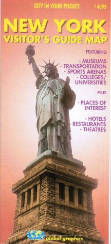 us topo - New York City, NY Visitor's Guide Map - Wide World Maps & MORE! - Book - Global Graphics - Wide World Maps & MORE!