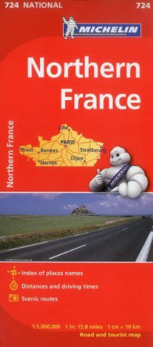 us topo - France, North Map 724 (Maps/Country (Michelin)) 1:1M - Wide World Maps & MORE! - Book - Michelin Travel & Lifestyle (COR) - Wide World Maps & MORE!