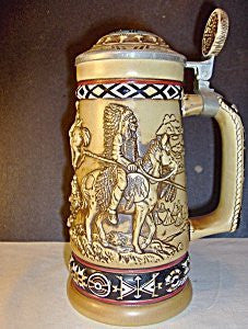 Avon Indians Of The American Frontier Stein - Wide World Maps & MORE! - Kitchen - Avon - Wide World Maps & MORE!