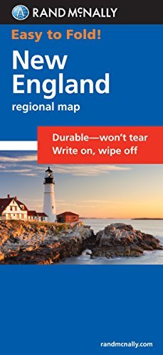 Easy To Fold! New England (Rand McNally) - Wide World Maps & MORE! - Map - Rand McNally - Wide World Maps & MORE!