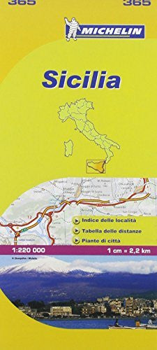 Michelin Map: Sicilia 365 ( Italy Sicily) (Maps/Local (Michelin)) (Italian Edition)