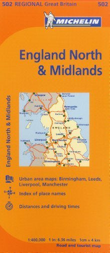 Michelin Map Great Britain: England North & The Midlands 502 (Maps/Regional (Michelin))