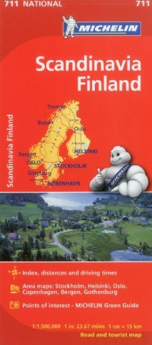 Michelin Scandinavia Finland Map 711 (Maps/Country (Michelin))