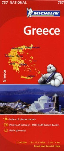 Michelin Greece Map 737 (Maps/Country (Michelin))
