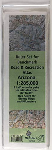 MapTools Ruler Set for Benchmark Road & Recreation Atlas - Arizona