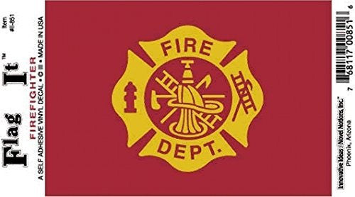 us topo - Fire Department decal for auto, truck or boat - Wide World Maps & MORE! - Automotive Parts and Accessories - Flag It - Wide World Maps & MORE!