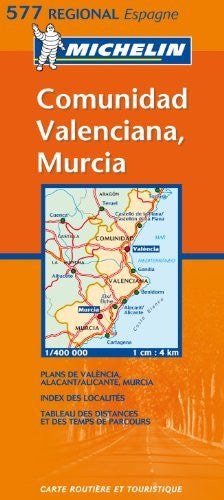 Michelin Map Spain Eastern: Comunidad Valenciana, Murcia 577
