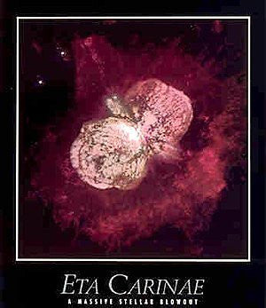 Eta Carinae: A Massive Stellar Blowout Gloss Laminated