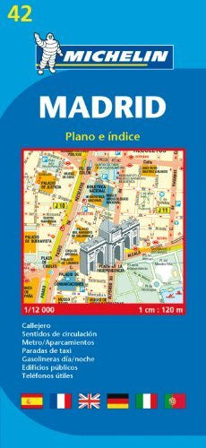 Michelin Map Madrid #42 (Maps/City (Michelin))