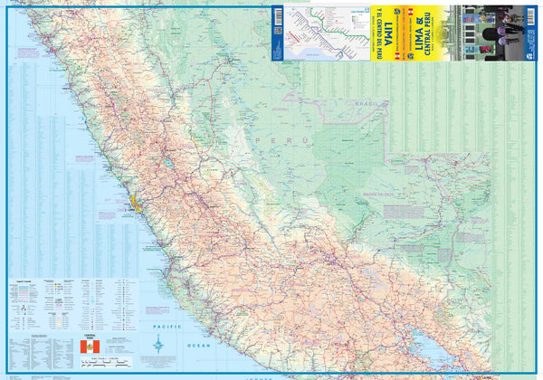 Lima & Central Peru - Wide World Maps & MORE! - Map - International Travel Maps - Wide World Maps & MORE!