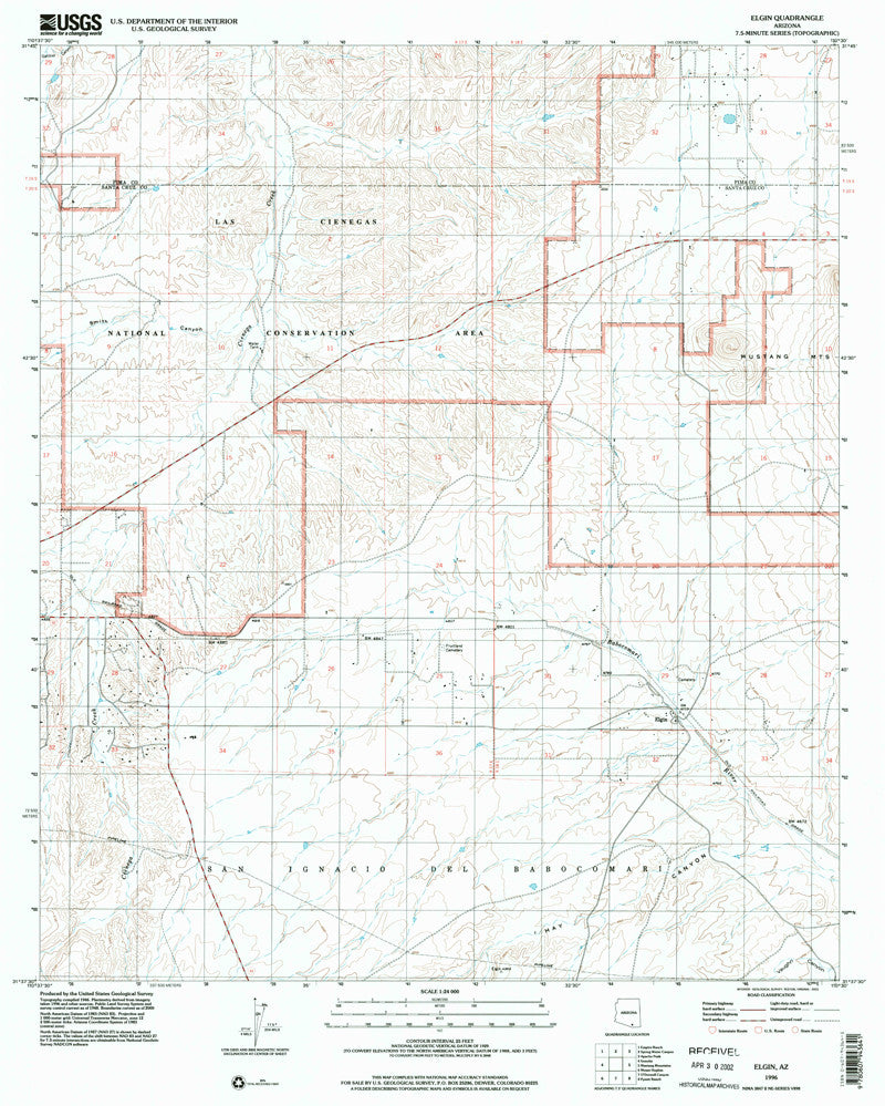 us topo - ELGIN, Arizona 7.5' - Wide World Maps & MORE! - Map - Wide World Maps & MORE! - Wide World Maps & MORE!
