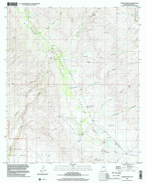 us topo - EUREKA RANCH, Arizona 7.5' - Wide World Maps & MORE! - Map - Wide World Maps & MORE! - Wide World Maps & MORE!