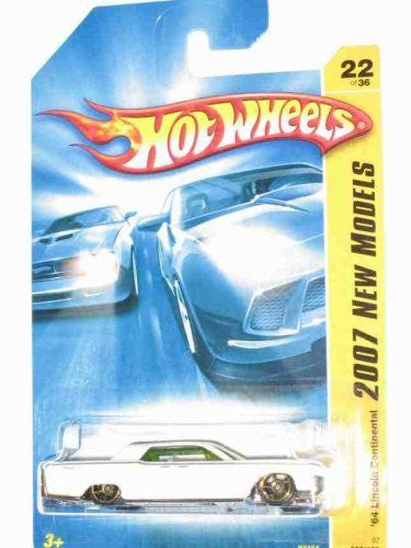 2007 '64 Lincoln Continental white Hot Wheels Collectible - New Models Series - 22/180 - Wide World Maps & MORE! - Toy - Hot Wheels - Wide World Maps & MORE!