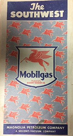 The Southwest Mobilgas Magnolia Petroleum Company Folding Road Map