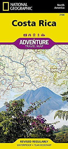 us topo - Costa Rica Adventure Travel Map (Trails Illustrated) - Wide World Maps & MORE! - Book - National Geographic Maps - Wide World Maps & MORE!