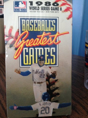 Baseballs Greatest Games 1986 Series [VHS]