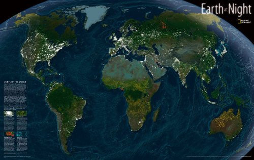 us topo - Earth at Night: PP.NGTH620306 - Wide World Maps & MORE! - Book - Wide World Maps & MORE! - Wide World Maps & MORE!