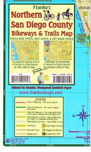 Franko's Southern San Diego County Bikeways & Trail Map - Wide World Maps & MORE! - Book - Wide World Maps & MORE! - Wide World Maps & MORE!