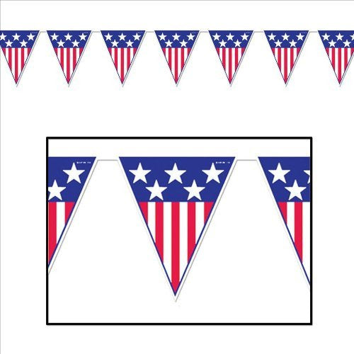 Beistle Mens Spirit of America Pennant Banner
