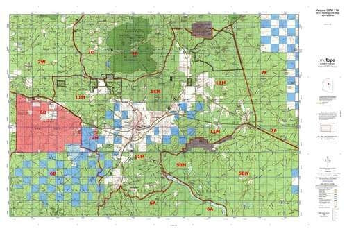 Arizona 11M Hunt Area / Game Management Unit (GMU) Map - Wide World Maps & MORE! - Map - MyTopo - Wide World Maps & MORE!