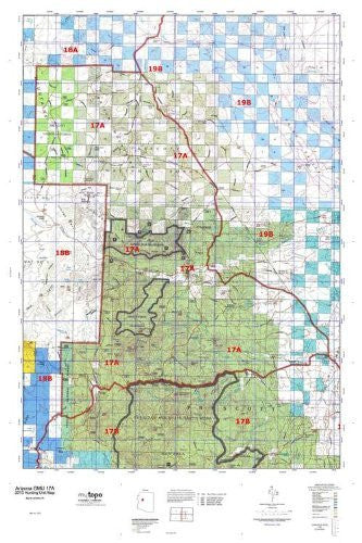 Arizona 17A Hunt Area / Game Management Units (GMU) Map