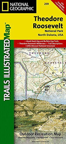 us topo - Theodore Roosevelt National Park (National Geographic Trails Illustrated Map) - Wide World Maps & MORE! - Book - National Geographic Maps - Wide World Maps & MORE!